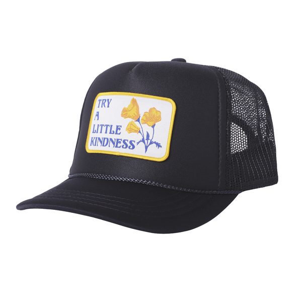 Tiny Whale Tiny Whales Kindness Kid's Trucker Hat - Navy