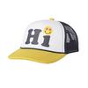 Tiny Whales Hi Kid's Trucker Hat - Gold & Navy