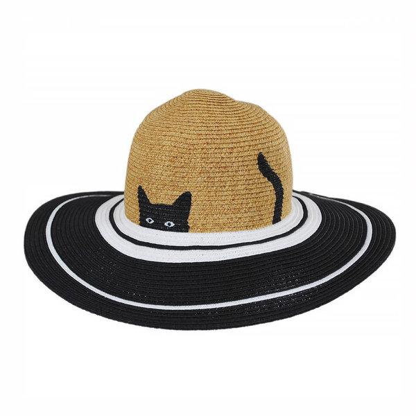 San Diego Hat Company Kids Sun Hat - Black/White Cat