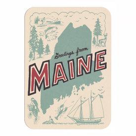 Daytrip Society Daytrip Society Retro Maine Postcard - Pack of 5