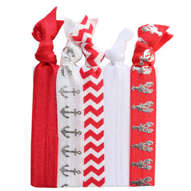 Daytrip Society Hair Ties Set of 5 - Red Lobster Bake