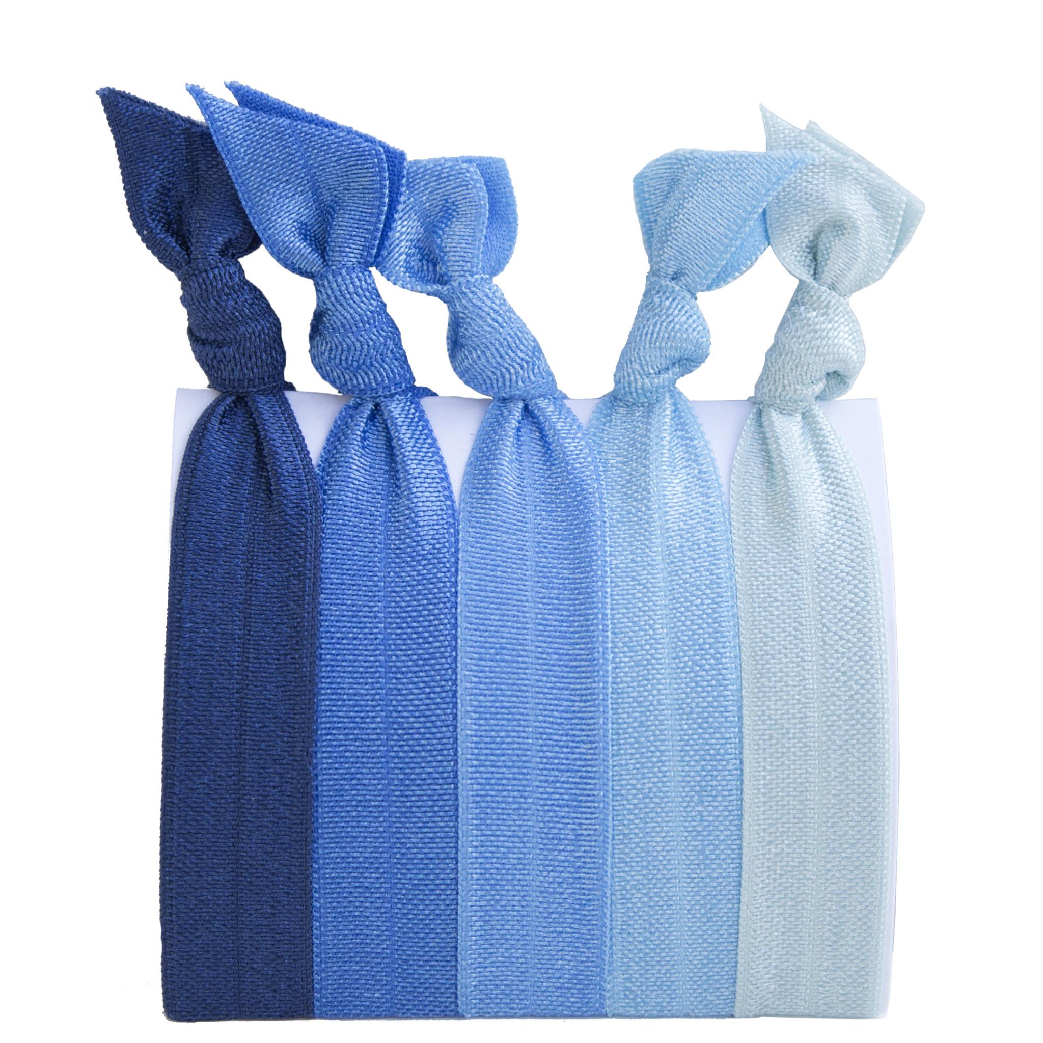 Hair Ties Set of 5 - True Blue