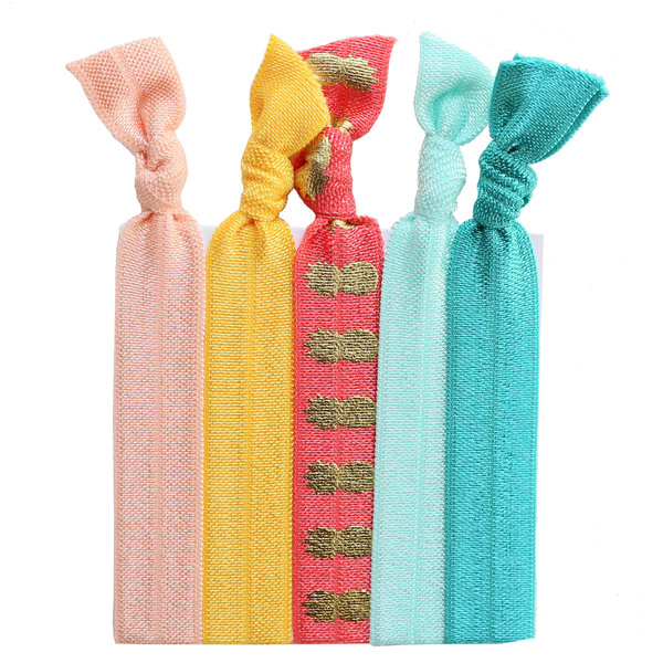 Daytrip Society Hair Ties Set of 5 - Don't Worry Be Happy