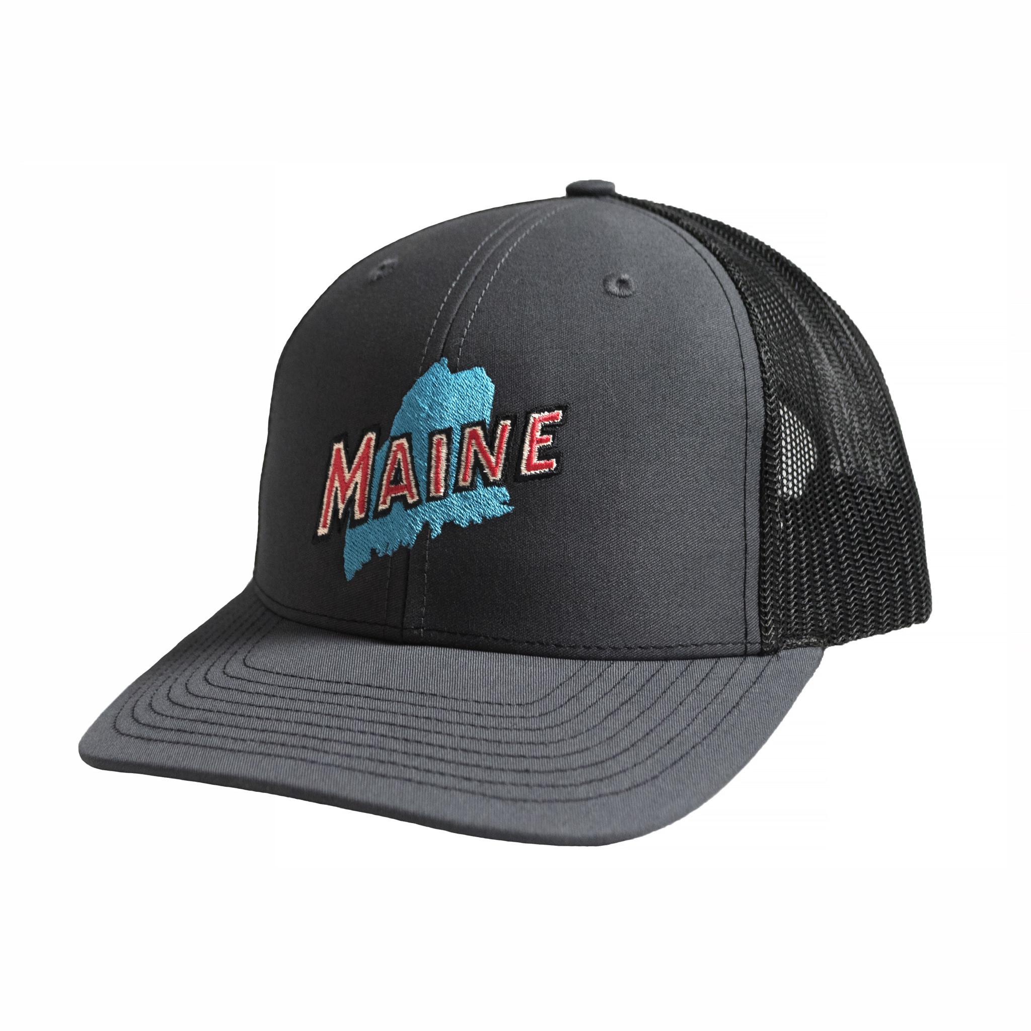 Retro Maine Trucker Hat - Charcoal