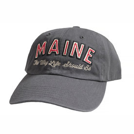 Daytrip Society Maine The Way Life Should Be Dad Hat - Charcoal