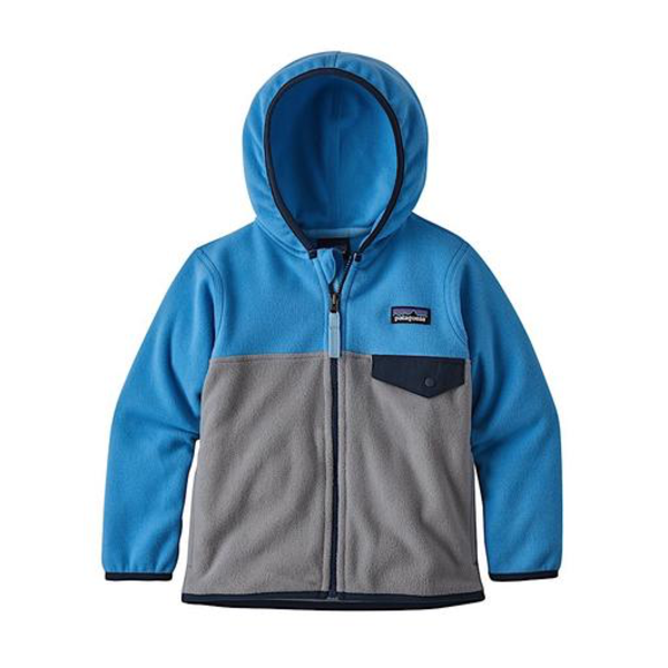 Patagonia Patagonia Baby Micro D Snap-T Fleece Jacket Feather Grey with Port Blue