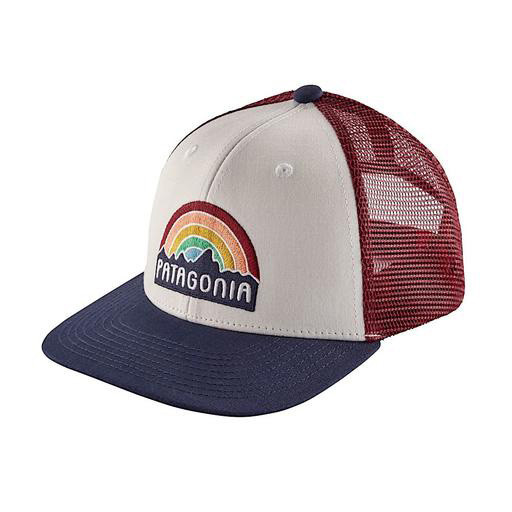 Patagonia Trucker Hat Kids - Fitz Roy Rainbow - White