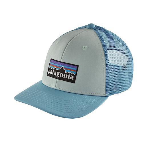 Patagonia Trucker Hat Kids - P6 Logo - Atoll Blue