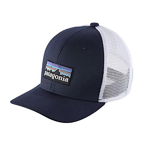 Patagonia Trucker Hat Kids - P6 Logo - Navy Blue