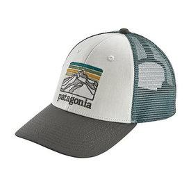 Patagonia Patagonia Trucker Hat LoPro - Line Logo Ridge - White