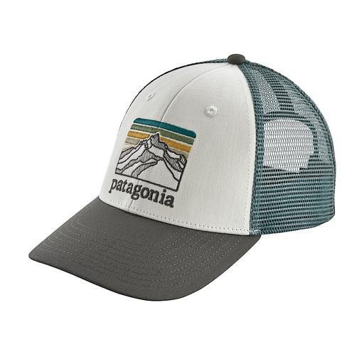 Patagonia Trucker Hat LoPro - Line Logo Ridge - White