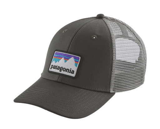 Patagonia Trucker Hat LoPro - Shop Sticker Patch - Forge Grey