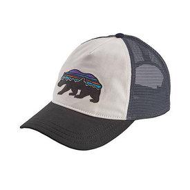 Patagonia Patagonia Trucker Hat Womens Layback - Fitz Roy Bear - White/Black