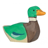 Holztiger Wooden Drake Duck - Swimming