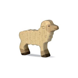 Holztiger Holztiger Wooden Sheep - White Baby