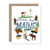Olive & Company Greetings From Maine Card