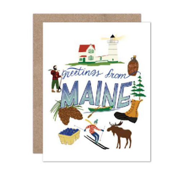 Olive & Company Olive & Company Greetings From Maine Card