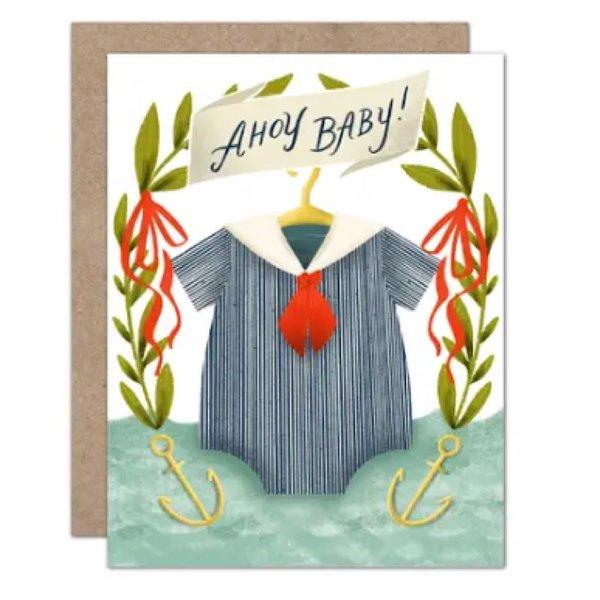 Olive & Company Olive & Company Ahoy Baby Card