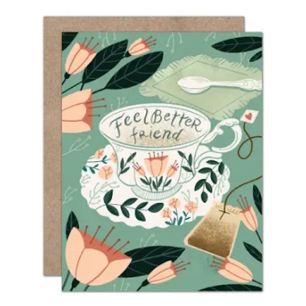 Olive & Company Card - Feel Better Friend Teacup Sympathy