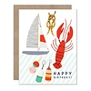 Olive & Company Lobster Birthday Card