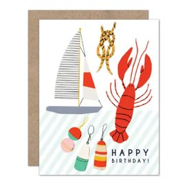 Olive & Company Olive & Company Lobster Birthday Card