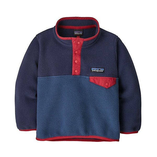 Patagonia Patagonia Baby LW Synch Snap-T Pullover - Stone Blue w/New Navy