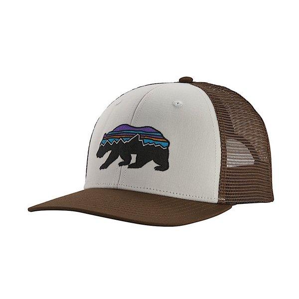 Patagonia Patagonia Trucker Hat - Fitz Roy Bear - White/Bristle Brown