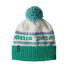 Patagonia Patagonia Kid's Powder Town Beanie Park Stripe: Plains Green