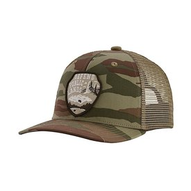 Patagonia Patagonia Trucker Hat Kids - Defend Public Lands - Bear Witness Camo Sage Khaki