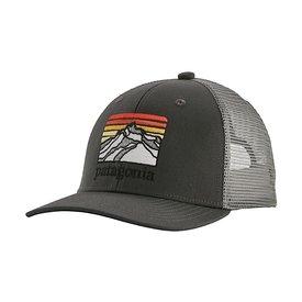 Patagonia Patagonia Trucker Hat Kids - Line Logo Ridge - Forge Grey