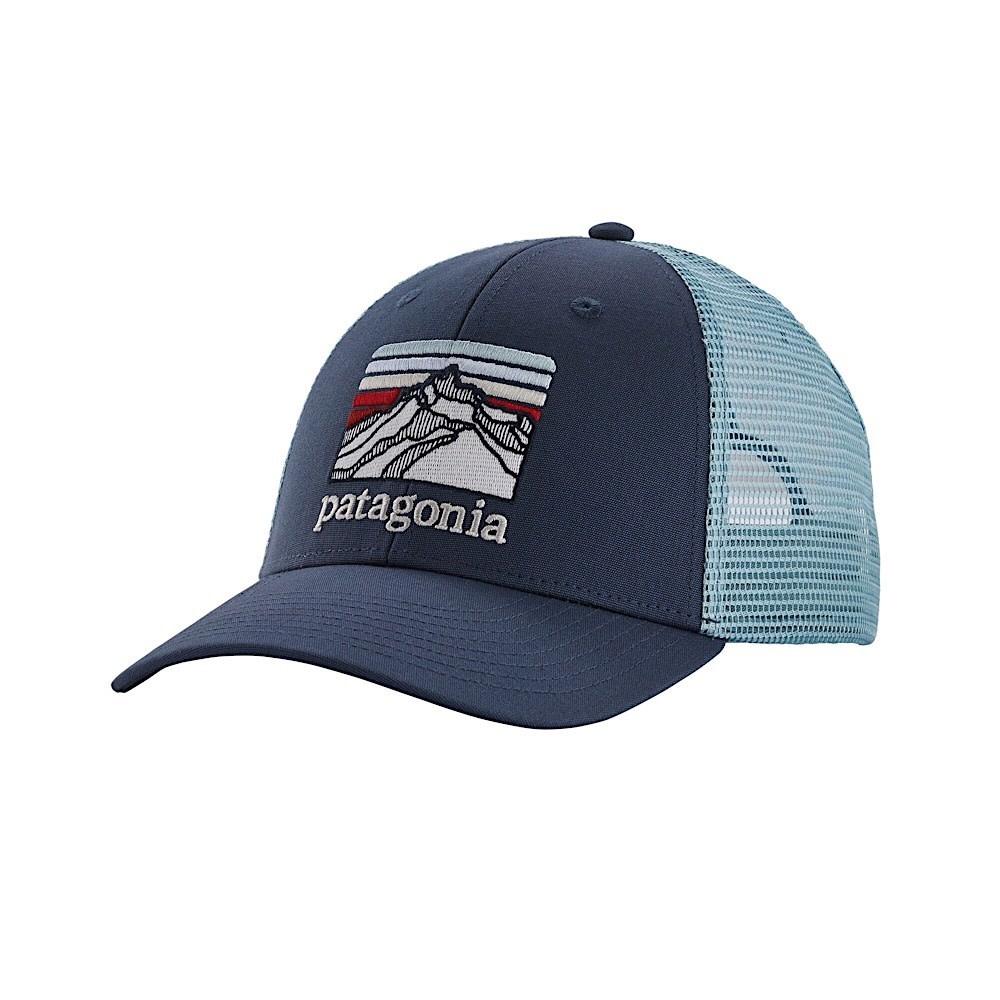 Patagonia Line Logo Ridge LoPro Trucker Hat Dolomite Blue