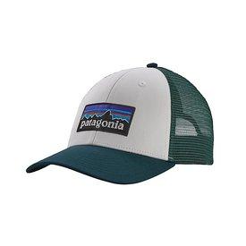 Patagonia Patagonia Trucker Hat LoPro - P6 Logo - White/Piki Green