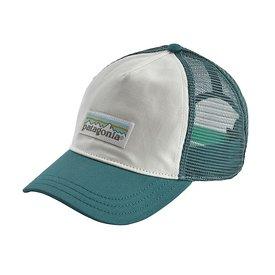 Patagonia Patagonia Trucker Hat Womens Layback - Pastel P6 Label - White/Tasmanian Teal