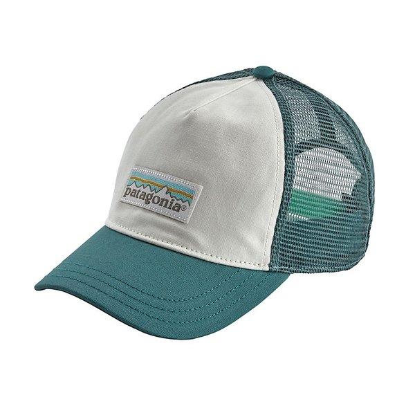 Patagonia Patagonia Women's Pastel P-6 Label Layback Trucker Hat White w/Tasmanian Teal