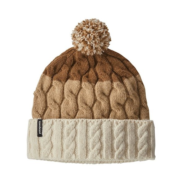 Patagonia Patagonia Women's Pom Beanie Glacier Stripe: Birch White/Bearfoot Tan