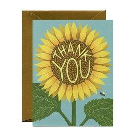 Yeppie Paper Yeppie Paper Sunflower Thank You Card