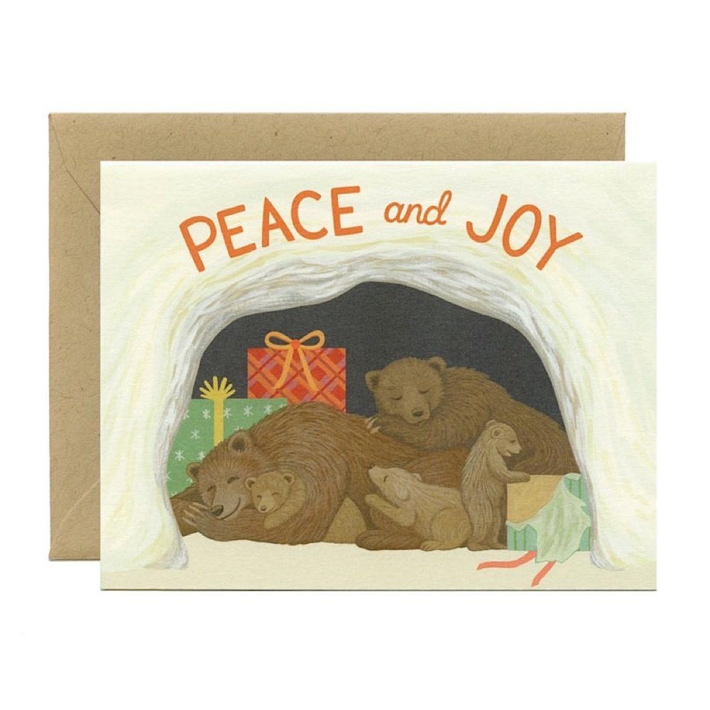 Yeppie Paper Hibernating Bears Card