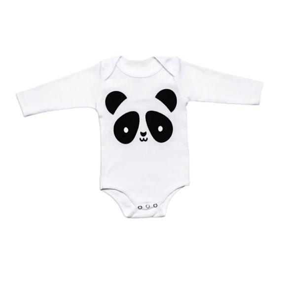 Whistle & Flute Whistle & Flute Kawaii Panda Bodysuit - Longsleeves