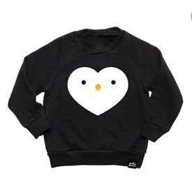 Whistle & Flute Whistle & Flute Kawaii Penguin Heart Sweatshirt
