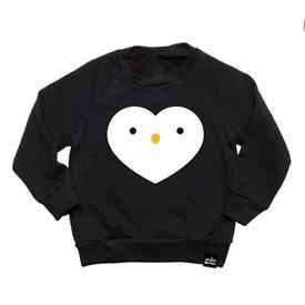 Whistle & Flute Whistle & Flute Kawaii Penguin Heart Sweatshirt