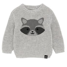 Whistle & Flute Whistle & Flute Kawaii Raccoon Knit Sweater