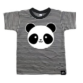 Whistle & Flute Whistle & Flute Kawaii T-Shirt Panda Striped
