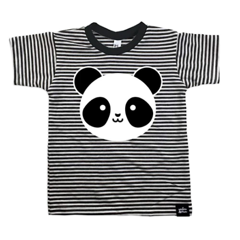 Whistle & Flute Whistle & Flute Kawaii T-Shirt Panda Striped