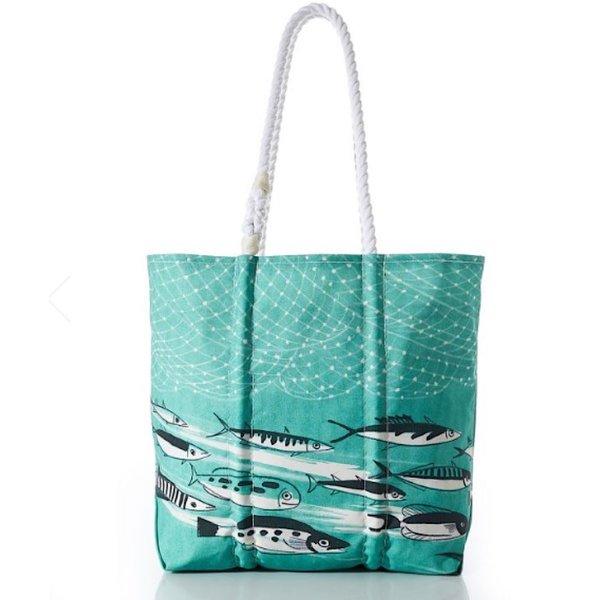 Sea Bags Sea Bags Tote - Deep Sea - Hemp Handles - Medium