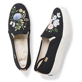 KEDS KEDS Adult + Rifle Paper Co. - Triple Decker / Botanical Embellished - Black