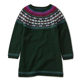 Tea Collection Fairisle Sweater Dress - Mallard