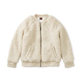 Tea Collection Tea Collection Sherpa Fleece Bomber Jacket - Birch