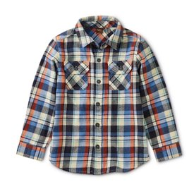 Tea Collection Tea Collection Flannel Plaid Shirt - Trekking Plaid