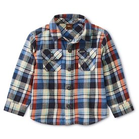 Tea Collection Tea Collection Flannel Plaid Baby Shirt - Trekking Plaid
