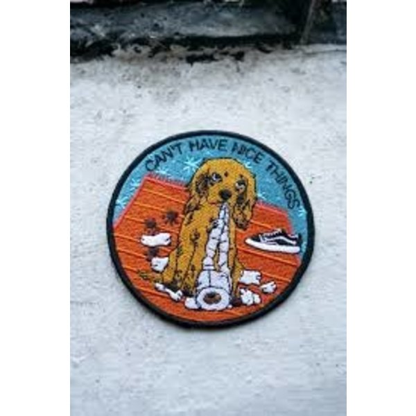 Stay Home Club Stay Home Club Iron-On Patch - Nice Things (Dog)